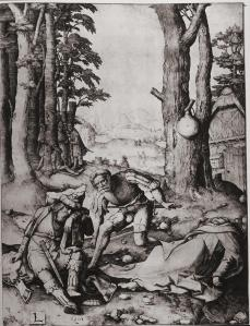 Lucas van Leyden; Mohammed and the Monk Sergius; 1508; engraving; 11 x 8.5 in.