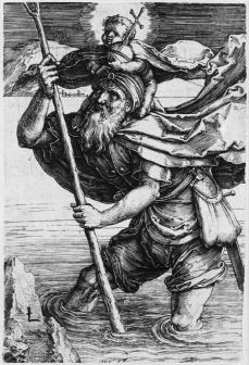 Lucas van Leyden; Saint Christopher; 1512; engraving; 107 x 72 mm