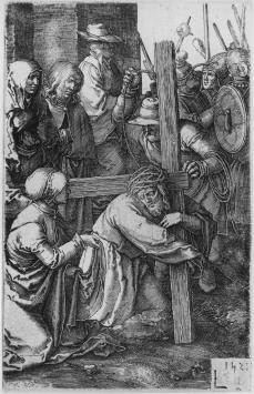 Lucas van Leyden; The Bearing of the Cross; 1521; engraving; 115 x 74-76 mm