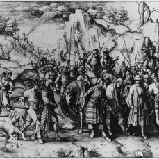 Lucas van Leyden; The Conversion of Saint Paul; 1509; engraving; 286 x 414 mm
