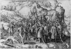 Lucas van Leyden; The Conversion of Saint Paul; engraving; 286 x 414 mm