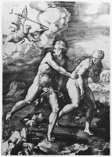 Lucas van Leyden; The Expulsion from Paradise; 1529; engraving; 164 x 115 mm