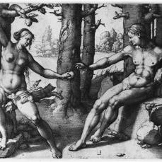 Lucas van Leyden; The Fall of Man; 1530; engraving; 189 x 247 mm