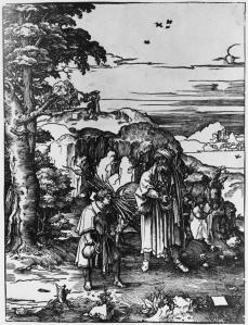 Lucas van Leyden; The Sacrifice of Isaac; woodcut