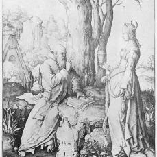 Lucas van Leyden; The Temptation of Saint Anthony; 1509; engraving