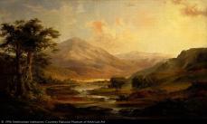 Robert S. Duncanson, Scottish Landscape, 1871, oil on canvas , 29 3/4 x 50 in. (75.4 x 127.0 cm.)