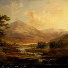 Robert S. Duncanson, Scottish Landscape, 1871, oil on canvas , 29 3/4 x 50 in. (75.4 x 127.0 cm.)