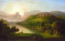 Robert S. Duncanson, Scotch Highlands, ca. 1848-1852, oil on canvas, 27 1/4 x 42 1/4 in. (69.2 x 107.3 cm.)
