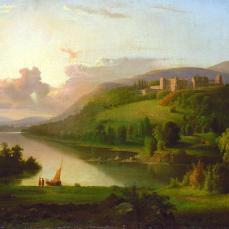 Robert S. Duncanson, Scotch Highlands, ca. 1848-1852, oil on canvas, 27 1/4 x 42 1/4 in. (69.2 x 107.3 cm.)