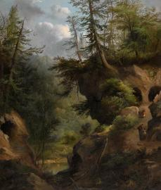 Robert Seldon Duncanson, The Caves, 1869, 91.4 x 78.1 cm