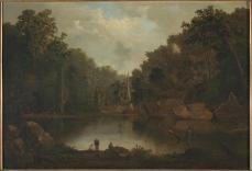 Robert S. Duncanson, Blue hole, flood waters, Little Miami river, 1851. 29 1/4 x 42 1/4 inches.