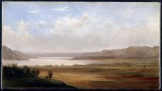 Robert S. Duncanson, View of Lake Pepin, Minnesota, 1862, oil on canvas, 30.2cm x 54.5cm