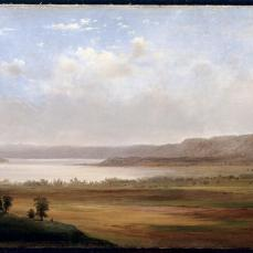 Robert S. Duncanson, View of Lake Pepin, Minnesota, 1862, oil on canvas, 30.2cm x 54.5cm