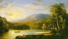 Robert S. Duncanson, Ellen's Isle, 871, Oil on canvas, 72.39 cm x 124.46 cm