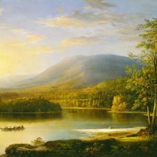 Robert S. Duncanson, Ellen's Isle, 871, Oil on canvas, 72.39 cm x 124.46 cm