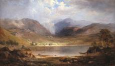 Robert Scott Duncanson, Loch Long, 1867, oil on canvas, 20 1/2 x 33 3/4 in.