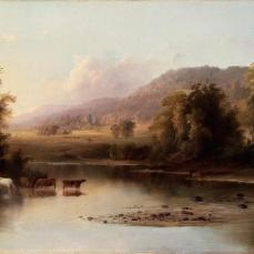 Robert S. Duncanson, View of the St. Anne's River, 1870, oil on canvas, 21 1/4 x 40 1/8 in. (54 x 101.9 cm)