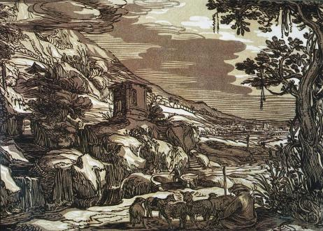 Arcadian Landscape Goltzius, Hendrik, 1595