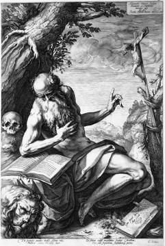 ST. JEROME Hendrik Goltzius 1596