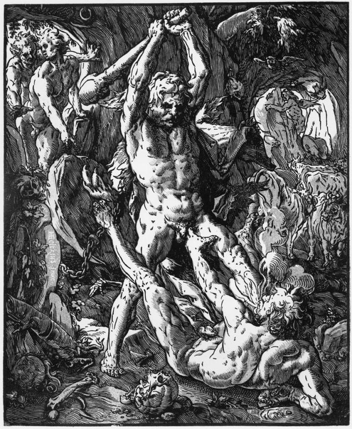 HERCULES AND CACUS Hendrik Goltzius 1588