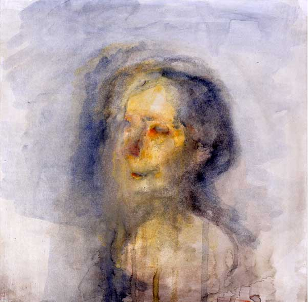 Celia Paul Annela, 2003 watercolour on paper, laid on canvas