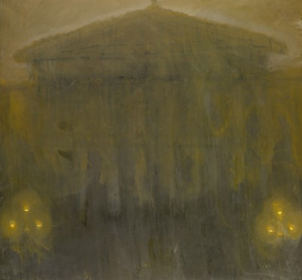 Celia Paul British Museum, Night, 2009 oil on canvas 152.4 x 165.1 cm