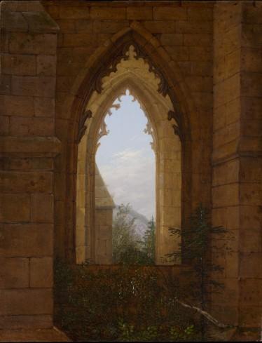Carl_Gustav_Carus_-_Gotisches_Fenster_in_der_Ruine_des_Klosters_Oybin