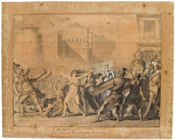 "David's study for his painting called ""The Intervention of the Sabine Women"