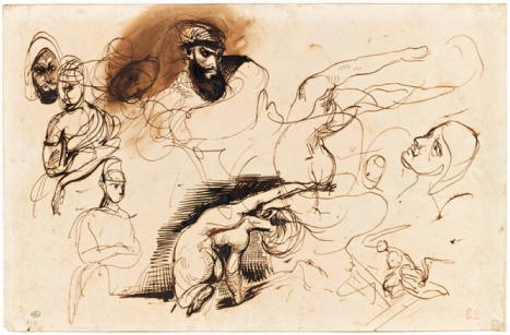 "Delacroix's study for ""The Death of Sardanapalus"