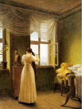 G.F. Kersting At the Mirror 1827Georg Friedrich Kersting, Woman at Mirror, 1827png
