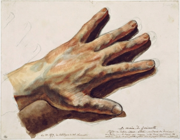 Géricault's drawing, which he made on his deathbed, of his own left hand copy 2