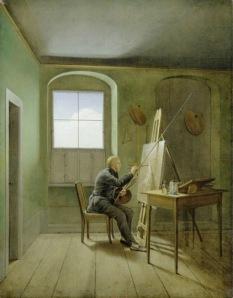 Georg Friedrich Kersting CDF in his Studio 1811