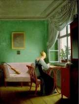 Georg Friedrich Kersting Embroidery Woman (1817)