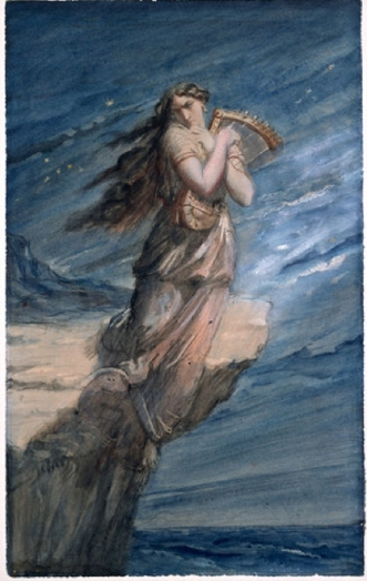 Theodore Chasseriau's watercolor portrait of Sappho copy 2