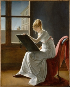 Young Woman Drawing by the French Marie-Denise Villers (Metropolitan Museum of Art, New York; 1801) copy