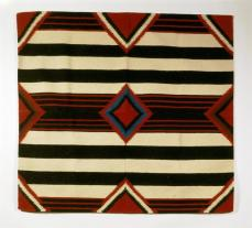 Imitation of Navajo third phase chiefs blanket, Bedding Blanket Period Modern, 1980-1990 , Wool; Dye, 144 cm x 159.5 cm x 0.5 cm