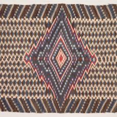 New Mexico, Rio Grande, 19th Century Culture, Serape, c. 1860, tapestry weave: wool, 197.4cm x 118.1cm