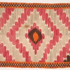 New Mexico, Spanish Culture, 19th Century , Blanket (Rio Grand) , c. 1880-1890 tapestry weave: wool and cotton, 194.3cm x 110.5cm