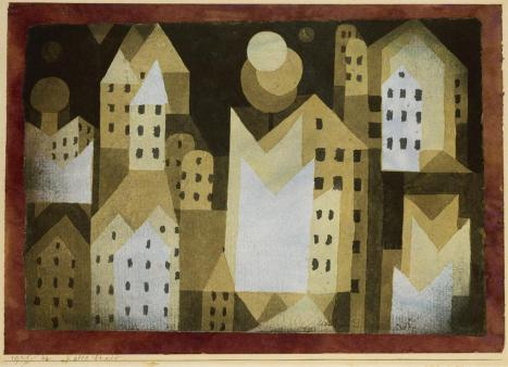 Cold City Date 1921 Material Watercolor on paper Measurements H. 8-1/4, W. 11-5/8 inches (21 x 29.5 cm.)