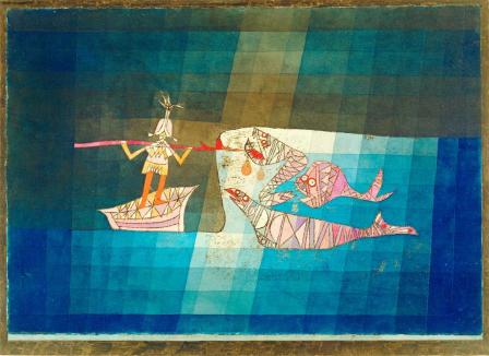 "Battle Scene from the Comic Opera ""The Seafarer"" Work Type painting Date 1923 Material colored sheet with watercolor and oil"