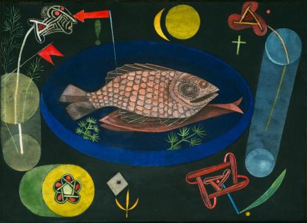 "Around the Fish Work Type Painting Date 1926 Material Oil and tempera on canvas mounted on cardboard Measurements 18 3/8 x 25 1/8"" (46.7 x 63.8 cm)"