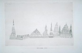 City of Cathedrals Work Type Drawings and Watercolors Date 1927 Material pen and black ink Measurements sheet: 11 13/16 x 18 1/8 in. (30 x 46 cm); mount: 49.3 x 64.3 cm