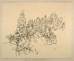 Alte Stadt mit Holzbrucke Work Type Drawings and Watercolors Date 1925 Material pen and black ink on wove paper