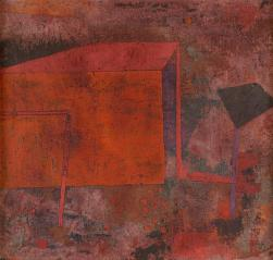Rotes Haus (Red House) Work Type painting Date 1929 Material oil on canvas mounted on cardboard Measurements 10 in. x 10 7/8 in. (25.4 cm x 27.62 cm)