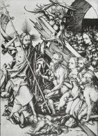 Msrtin Schongauer, 15th cent,Twelve Scenes Illustrating Christ's Passion:Christ in Limbo , 1480, engraving, 164x116mm