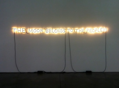 Glenn Ligon the moon belongs to the people