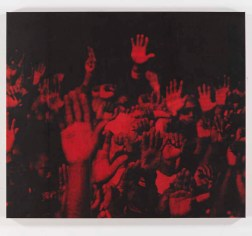 Glen Ligon, Red+Hands_1996