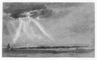 William Turner, graphite with gray wash, heightened with white, on buff paper, 176 x 292 mm, 19th c.
