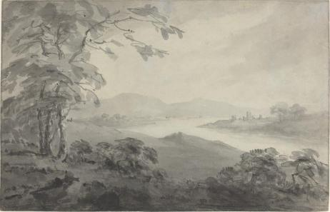 William Gilpin, pen and black ink with gray wash over graphite on laid paper, 24 x 37.3 cm (9 7/16 x 14 11/16 in.), 1770.