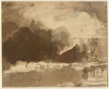John Varley, brush and brown wash over graphite on wove paper, 7.1 x 8.8 cm (2 13/16 x 3 7/16 in.), c. 1778 - 1842